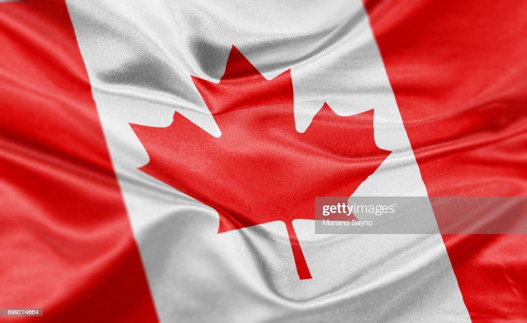 High resolution digital render of Canada flag : Foto stock