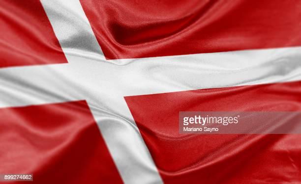 High resolution digital render of Denmark flag