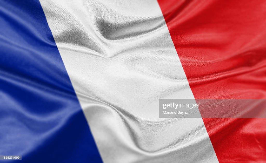 High resolution digital render of France flag : Stock-Foto