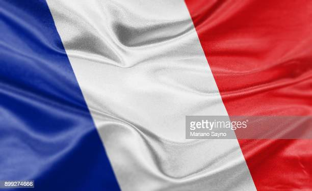 high resolution digital render of france flag - france stock-fotos und bilder