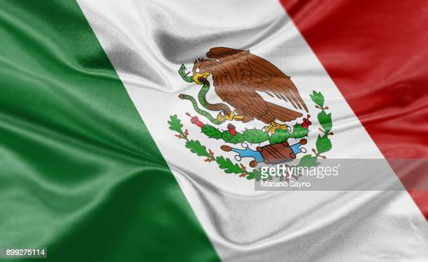 high resolution digital render of mexico flag - mexico map stock photos and pictures