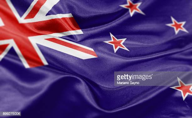 high resolution digital render of new zealand flag - flag stock pictures, royalty-free photos & images