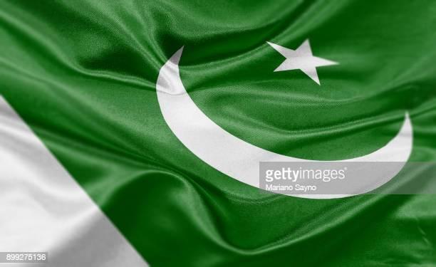 high resolution digital render of pakistan flag - pakistan foto e immagini stock