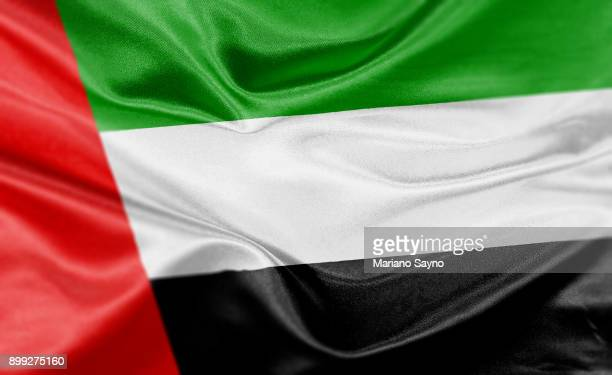 high resolution digital render of uae flag - flag stock pictures, royalty-free photos & images