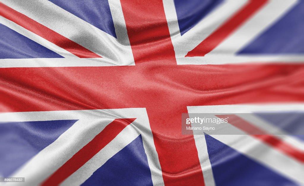High resolution digital render of United Kingdom flag : Stock Photo