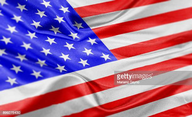 High resolution digital render of USA flag