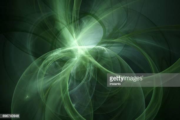 Fondo fractal verde de alta resolución.
