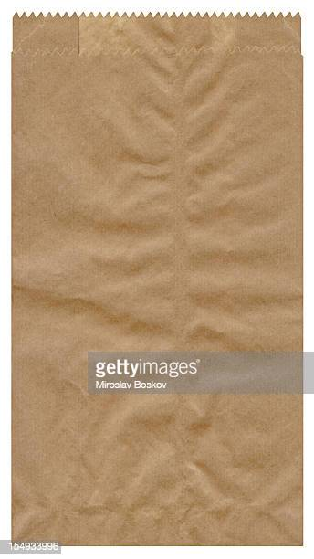 High Resolution Isolated Brown Paper Grocery Bag