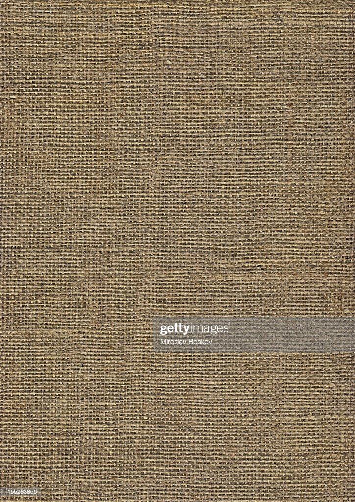 高解像度のジュートのキャンバス雑穀類のグランジテクスチャ : ストックフォト