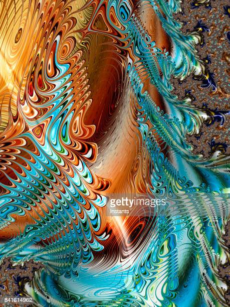 High resolution multi-colored abstract fractal background.