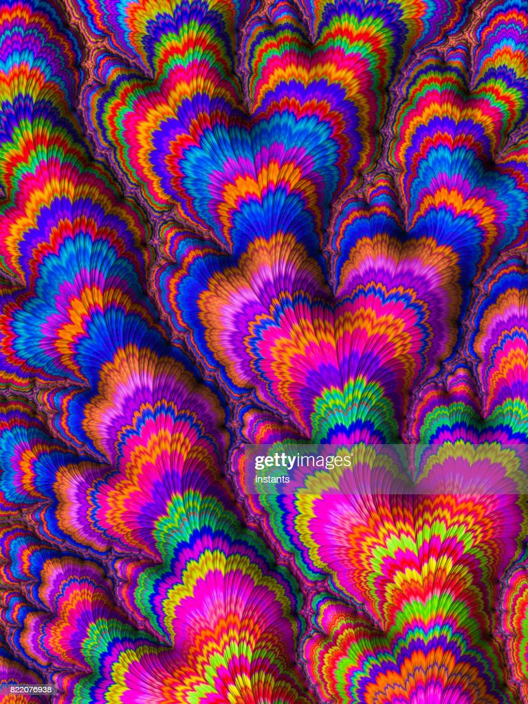 High resolution multi-colored fractal background, which patterns remind those of a flower bouquet. : Stock Photo