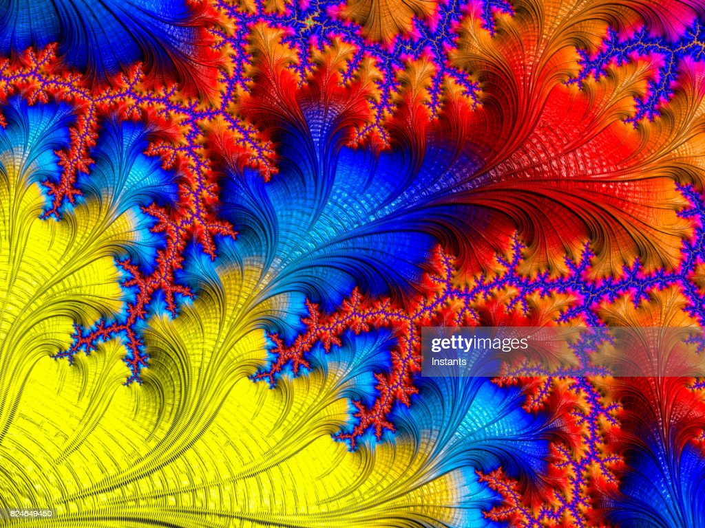 High Resolution Multicolored Fractal Background Which Patterns ...