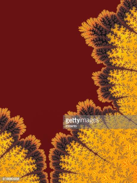 high resolution multi-colored fractal background, which patterns remind of foliate forms. - maroon stock pictures, royalty-free photos & images