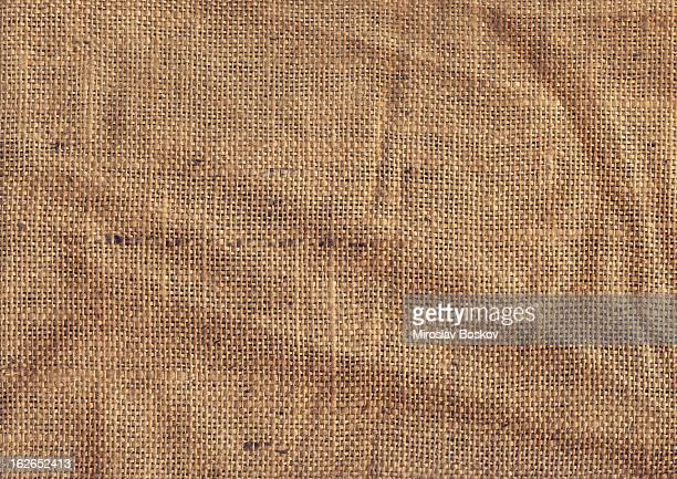 High Resolution Old Coarse Burlap Canvas Crumpled Grunge Texture