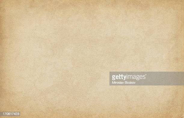 high resolution old sandy brown watercolor paper vignetted texture - beige stock pictures, royalty-free photos & images