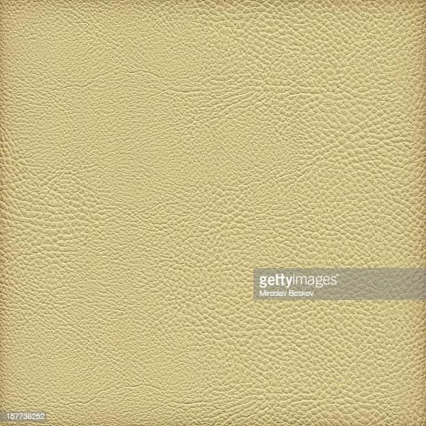 High Resolution Pale Yellow Pleather Crumpled Vignette Grunge Texture