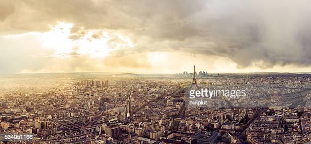 Haute résolution panorama de la ville de Paris avec la tour Eiffel