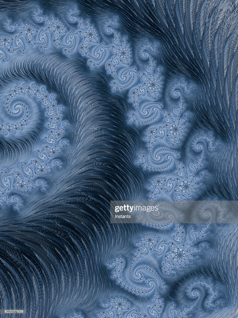 High resolution pastel blue abstract fractal background. : Stock Photo