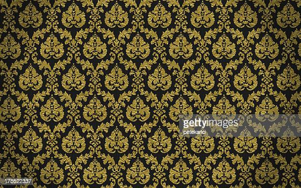 high resolution patterned wallpaper - baroque stock pictures, royalty-free photos & images