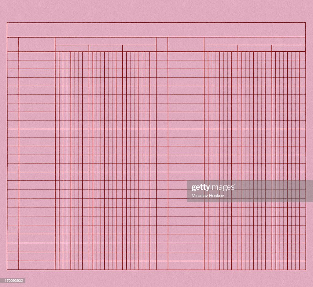 high resolution pink lined graph paper blank form sample stock photo
