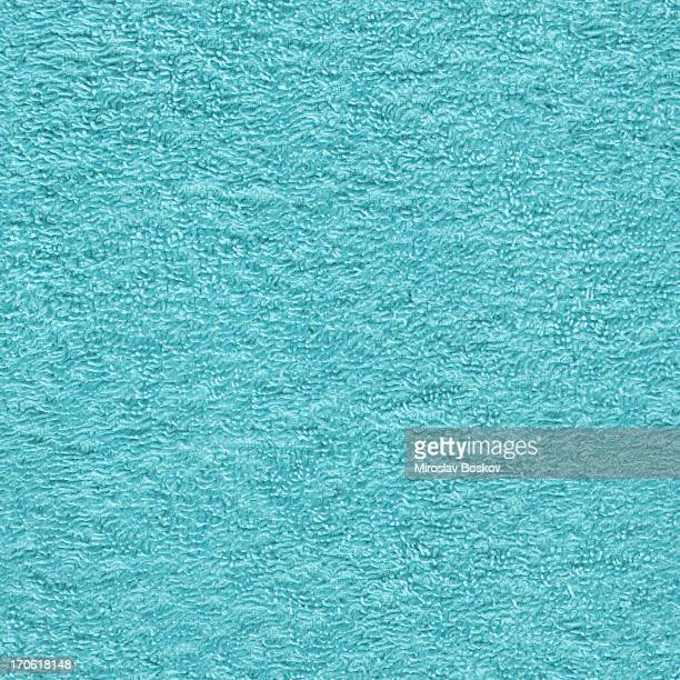 High Resolution Toweling Fabric Turquoise Seamless Texture Tile