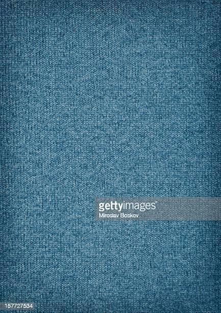 高解像度のウール織布ブルーのビグネットの質感