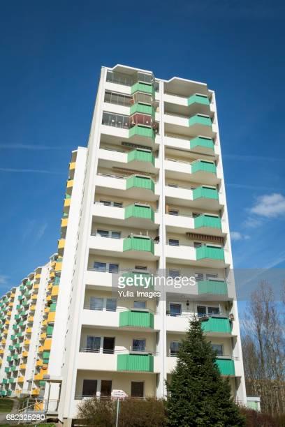 High rise apartment blocks in Chemnitz