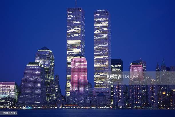 High Rise Building in New York, Manhattan, United State of America, Night View