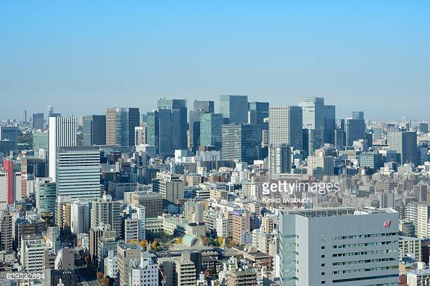 high rise buildings in tokyo station area, tokyo, japan. - 昼間 ストックフォトと画像