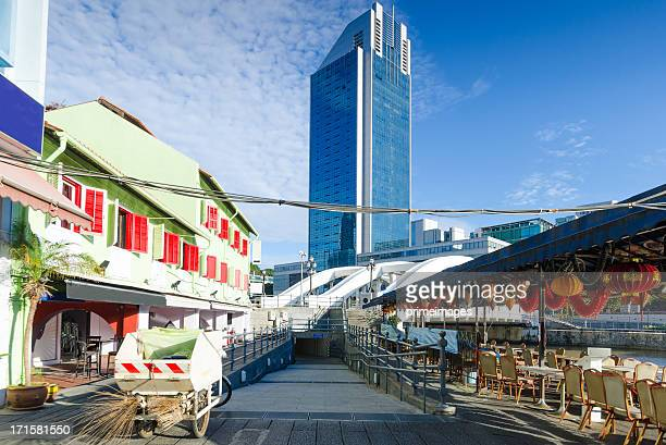 high rise buildings of singapore - borough district type stock pictures, royalty-free photos & images