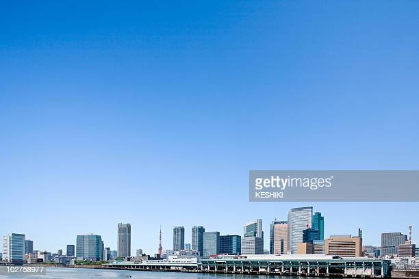 High rise buildings under sky, copy space, Tokyo prefecture, Japan