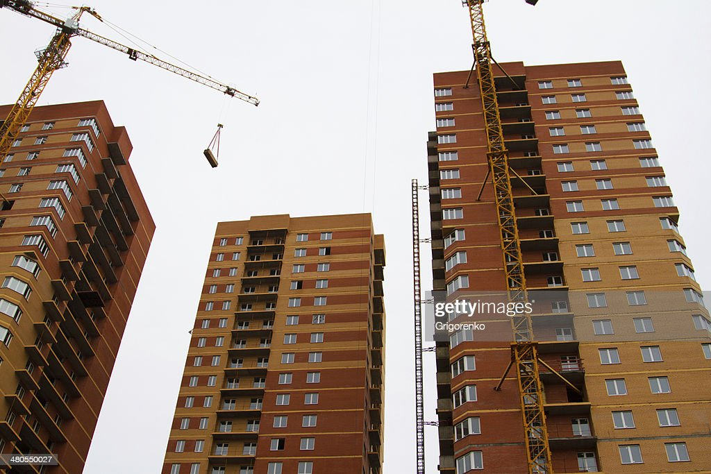 Arranha-céus de Construção : Foto de stock