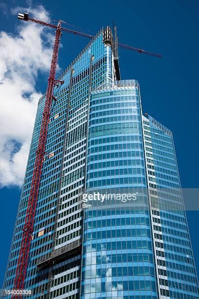 Bureaux d'un gratte-ciel en Construction, de La Défense, à Paris