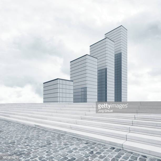 high rise office buildings - bar graph stock pictures, royalty-free photos & images