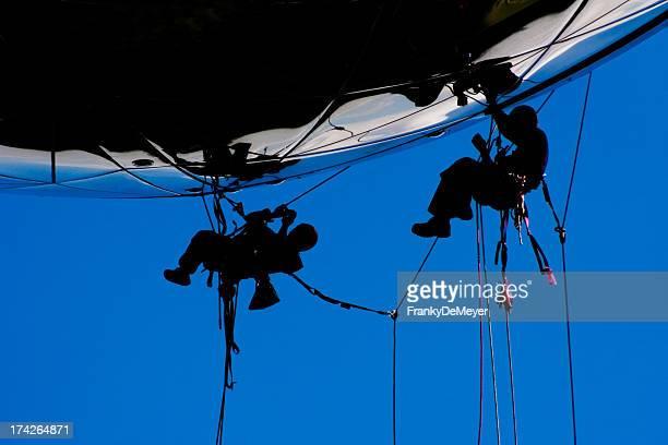 Hohe Risikokategorie Teamarbeit für Bau Arbeiter