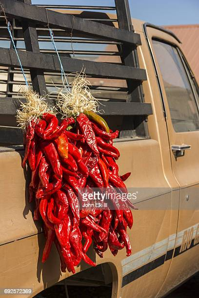 High Road to Taos, Chimayo, chili ristras for sale