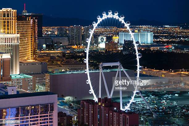 high roller ferris wheel - gambling stock pictures, royalty-free photos & images