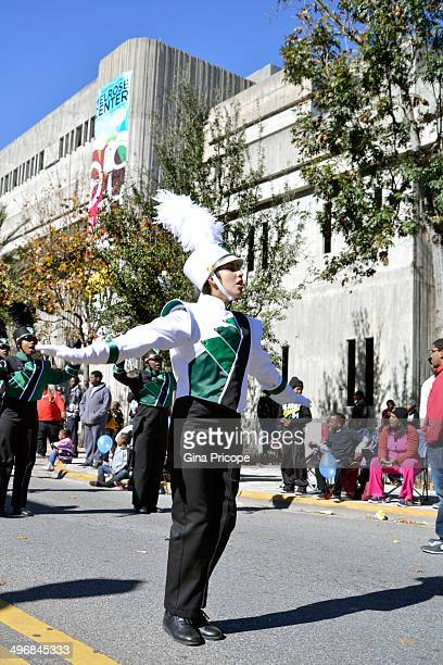 High School band leader during the parade of Martin Luther King in Orlando, Florida.