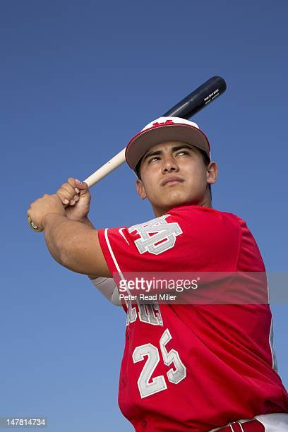 Where Will They Be Portrait of Mater Dei catcher Jeremy Martinez during photo shoot on campus Martinez is 16yearsold Santa Ana CA CREDIT Peter Read...