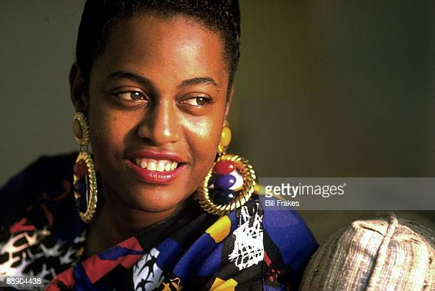 Closeup portrait of Ann Iverson mother of Bethel HS Allen Iverson Hampton VA 7/14/1993 CREDIT Bill Frakes