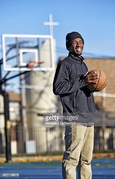Closeup portrait of New Rochelle High senior Khalil Edney during photo shoot at Lincoln Park Edney became a viral video sensation after making a last...