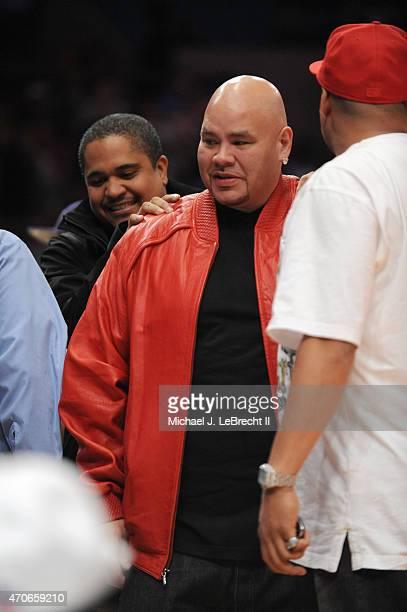 Jordan Brand Classic Celebrity rapper Fat Joe during AllAmerican Game at Madison Square Garden New York NY CREDIT Michael J LeBrecht II