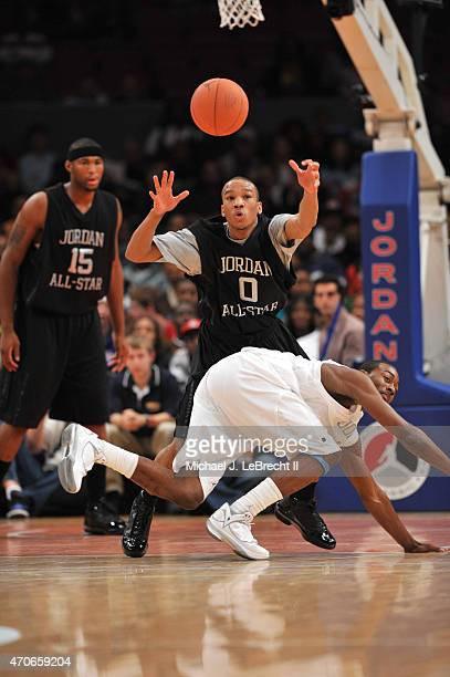 Jordan Brand Classic Findlay College Prep Avery Bradley Jr in action during AllAmerican Game at Madison Square Garden New York NY CREDIT Michael J...