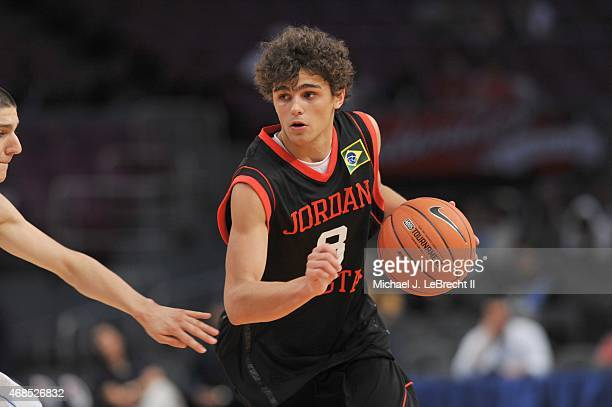 Jordan Brand Classic Minas Tenis Clube Raul Neto in action during International Game at Madison Square Garden New York NY CREDIT Michael J LeBrecht II