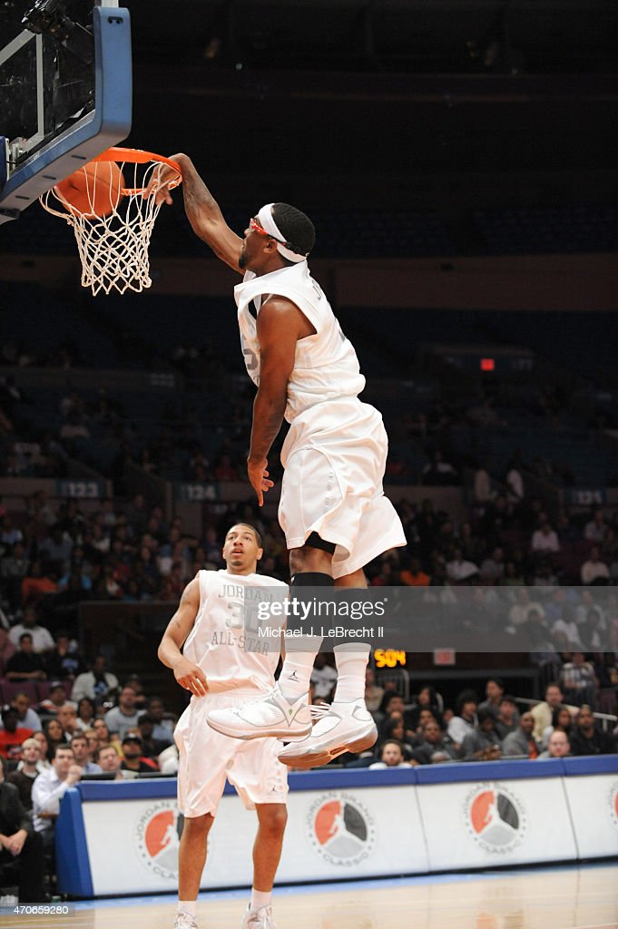 Whitney Young HS Chicago Marcus Jordan 5 In Action Dunk During