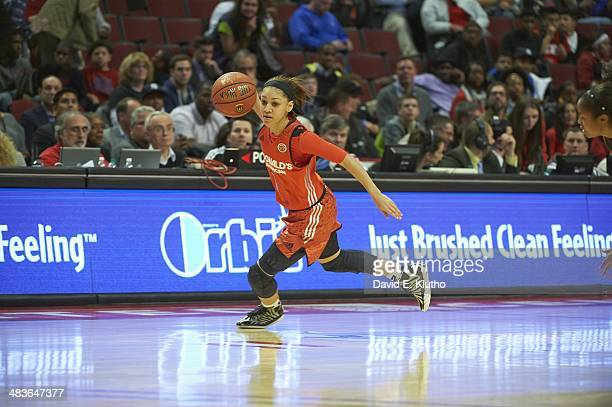 McDonald's All American Game Team East Bianca Cuevas in action vs Team West during Girl's game at United Center Chicago IL CREDIT David E Klutho