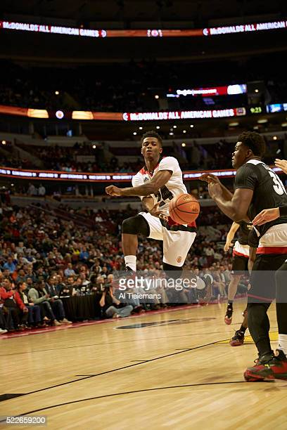 McDonald's All American Game Team West Alterique Gilbert in action passing vs Team East at United Center Chicago IL CREDIT Al Tielemans