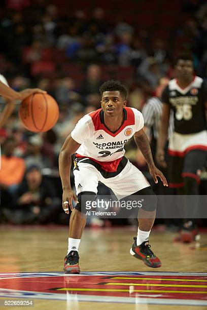 McDonald's All American Game Team West Alterique Gilbert in action defense vs Team East at United Center Chicago IL CREDIT Al Tielemans