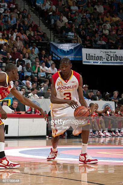 1a14a2117 McDonald s All American Game Team West Kevin Durant of Montrose Christian  School in action during Boy s
