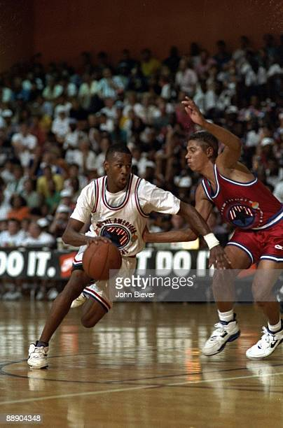 Nike AllStar Tournament Bethel HS Allen Iverson in action at Hoosier Dome Indianapolis IN 7/10/1993 CREDIT John Biever